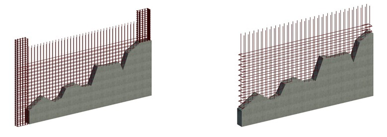 (LEFT)Special Seismic Detail / (RIGHT)Modified Equivalent Seismic Detail
