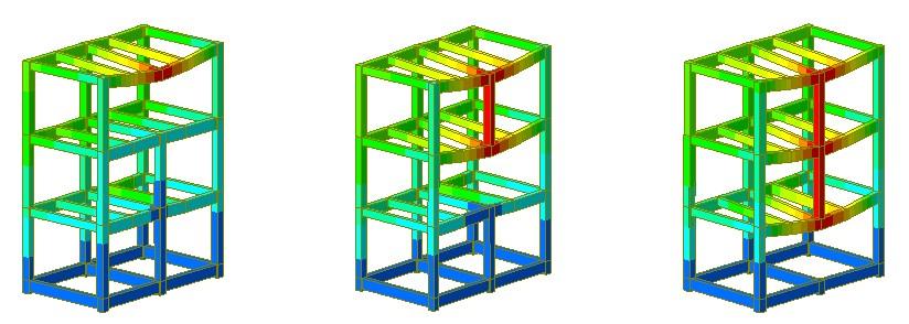 Simulation of progressive collapse due to column removal